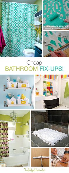 Cheap Bathroom Fix Ups for Any Family! • Tips, Ideas & Tutorials!