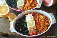 Salmon, Kale & Sweet Potatoes