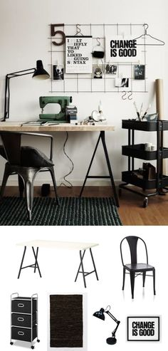 #Scandinavian #design. #industrial #desk #workspace #decor #adoredecor #nousdecor