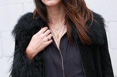 Wearing: H&M dress, Vintage coat, No Rest For Bridget necklace, Forever 21 rings