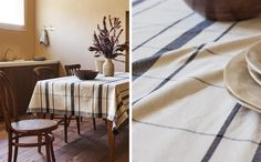 Image of the product CHECKED TABLECLOTH Zara Home, Wishbone Chair, Table Linens, Animal Print Rug, United Kingdom, Improve Yourself, Dining, Furniture, Grain Sack