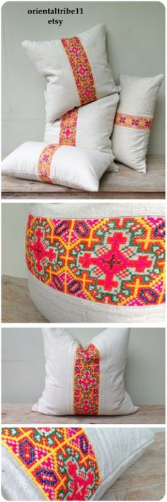 Organic ethnic  textiles decorative pillow case by orientaltribe11 on etsy