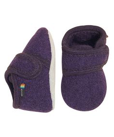 Look what I found on #zulily! Purple Wool Shoe by Melton Baby #zulilyfinds