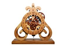 Wooden Table Clock by WoodDecorTM on Etsy