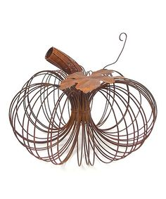 Look what I found on #zulily! Rustic Wiry Pumpkin #zulilyfinds