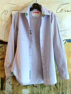 For Sale Robert Graham Lt Purple Chambray Sport Shirt w Pattern Details Size Medium | eBay