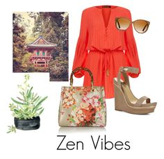 Zen Vibes by fancy-chic on Polyvore featuring polyvore, fashion, style, ViX, BCBGMAXAZRIA, Gucci, Shwood, WALL and clothing