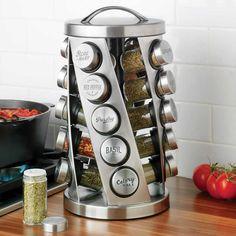 Jobs From Home Discover Kamenstein 20 Jar Revolving Spice Rack Cool Kitchen Gadgets, Kitchen Items, Home Decor Kitchen, Kitchen Utensils, Cool Kitchens, Kitchen Design, Kitchen Appliances, Kitchen Tools, Smart Kitchen