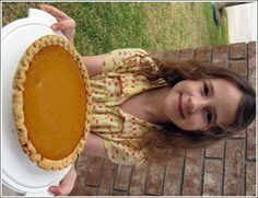 """pumpkin pie   the pumpkin pie with condensed milk. We took the pie out of the oven right as the housekeepers arrived. They said it was """"muy"""