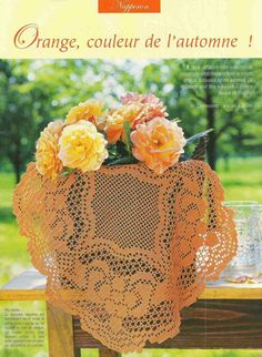 Home Decor Crochet Patterns Part 121 - Beautiful Crochet Patterns and Knitting Patterns Crochet Doily Patterns, Crochet Mandala, Crochet Diagram, Filet Crochet, Crochet Doilies, Crochet Lace, Knitting Patterns, Crochet Tablecloth, Beautiful Crochet
