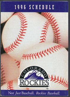 1996 COLORADO ROCKIES DUGOUT STORE BASEBALL POCKET SCHEDULE FREE SHIPPING