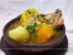 Cazuela de Ave- Chicken Stew from Chile super easy & yummy (recipe in Spanish) Chilean Recipes, Chilean Food, Healthy Fridge, Argentina Food, Latin American Food, Easy Delicious Recipes, Food Facts, Winter Food, Salads