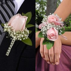 Boutonnieres & Wrist Corsages, - - Boutonnieres & Wrist Corsages, 8 Boutonnieres and 8 Wrist CorsagesPlease Choose Color From Drop BoxAll Orders Require A Preferred Arrival Date At CheckoutFlowers Ship Fresh Directly From Farm To Member. Prom Corsage And Boutonniere, Bridesmaid Corsage, Flower Corsage, Wrist Corsage Wedding, Wedding Bouquets, Corsages For Wedding, Wedding Coursage, Prom Flowers, Wedding Flowers