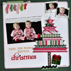 christmas tree tutorial for scrapbook page