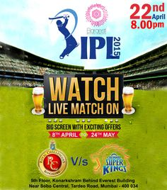 Come Live screening of IPL2015 to enjoy the shots. At the entrance of Baraesti you have to pick a respective team's flag. The flag entitles you to guzzle some ridiculously fun IPL shots meant for everyone on your table at the beginning of the game and if your team wins you get the winning shots too!  Reserve a table +91 9967105022