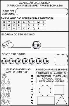 AVALIAÇÃO DIAGNÓSTICA 2º PERÍODO – 5 ANOS | Cantinho do Educador Infantil