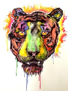 Paradise Tiger Art Print By Cat Ardley