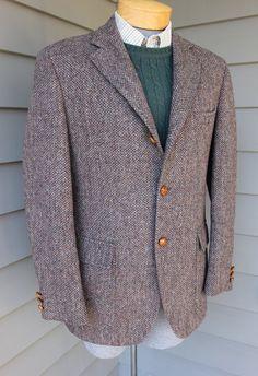 vintage 70's 80's Men's Harris Tweed sport coat. 3 by StyleStash, $120.00