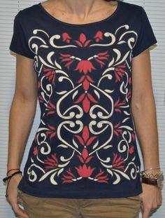Camiseta print floral