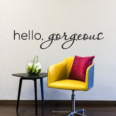 Hello Gorgeous - Hello Gorgeous Decal - Mirror Decals - Salon Decal - Salon Decor - Inspirational Wall Decals - Wall Decor by luxeloft on Etsy