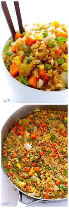 The BEST Fried Rice -- better than the restaurant version, and quick and easy to make homemade too! | http://gimmesomeoven.com Check out more recipes like this! Visit yumpinrecipes.com/