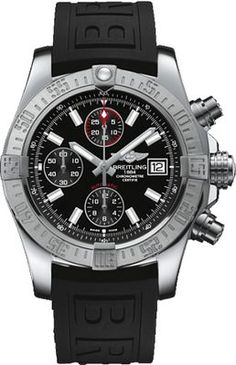 Breitling Watch Avenger II Steel Volcano Black Watch available to buy online from with free UK delivery. Breitling Superocean Heritage, Breitling Navitimer, Breitling Colt, Breitling Watches, Breitling Chronograph, Men's Watches, Sport Watches, Cool Watches, Watches For Men