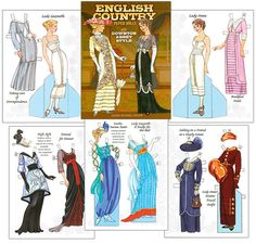 Downton Abbey Style or English Country Paper Dolls in the Downton Abbey Style