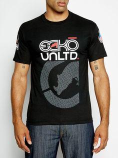 Hommes T-Shirt Ecko Unltd /à Manches Courtes T-Shirt Sport Graphic Summer Ghost Tee