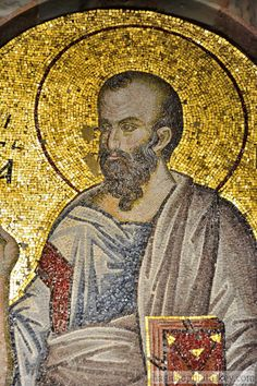 Saint Paul the Apostle Mosaic in Inner Narthex of Chora Church Paul The Apostle, Byzantine Art, Byzantine Mosaics, Turkish Art, Orthodox Icons, Medieval Art, Ancient Artifacts, Sacred Art, San Salvador
