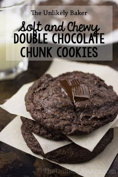 [VIDEO] These chewy double chocolate chunk cookies will satisfy your chocolate cravings – soft, succulent and chocolatey with huge chunks of dark chocolate. Easy Gluten Free Desserts, Delicious Desserts, Dessert Recipes, Bar Recipes, Recipes Dinner, Potato Recipes, Pasta Recipes, Crockpot Recipes, Soup Recipes