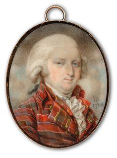 Miniature, 1788, by John Bogle (British, 1746-1803) A Gentleman, wearing tartan…