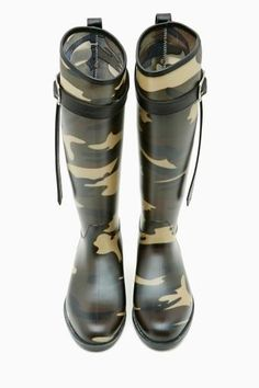 Camouflage Rain Boots.