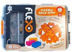 Buy Flexo Beginners Pack - Orange at Mighty Ape Australia. What is Flexo? Flexo uses a unique . Orange Brick, Brick Colors, Skills To Learn, Fun Learning, Learning Skills, Toys Online, Toys R Us, Toys Shop, Toy Sale