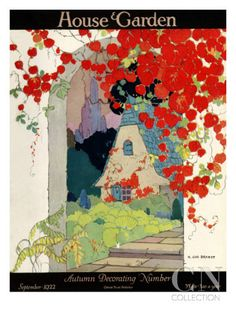 House & Garden Cover - September 1922 Poster Print by H. George Brandt at the Condé Nast Collection