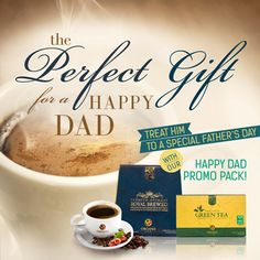 Father's Day is around the corner! Treat your dad to some Premium Gourmet Royal Brewed coffee and soothing Organic Green Tea.  * Promo runs from June 1 -15, 2014 US & Canada only. Check your BackOffice for details*