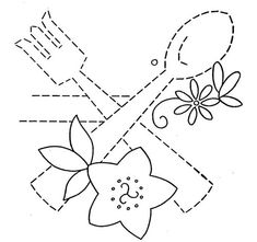 Hand Embroidery Pattern 3200 Dishes Flowers for Tea Towels 1940s    3 of 7