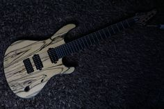 Mayones Regius 7 Custom - Pale Moon Ebony and  Korina