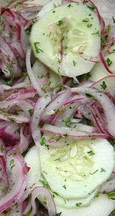 Cucumber Salad with Lime & Cilantro