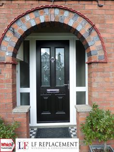 Local and professional company manufacturing and installing of conservatories, windows, doors and double glazing in Wiltshire. Entrance Doors, Front Doors, Composite Front Door, House Front Porch, Front Door Makeover, Front Door Colors, Wooden Doors, Brick, New Homes