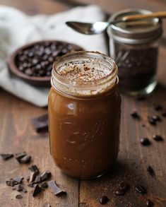 Dairy-Free, naturally sweetened mocha recipe using cacao powder and pure maple syrup | TheRoastedRoot.net #healthy #coffee #drink