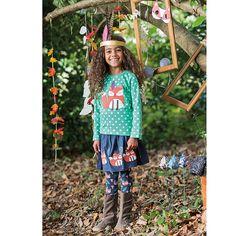 5f3447559333cb BuyFrugi Organic Children's Fox Border Twill Skirt, Navy, 3-4 years Online  at