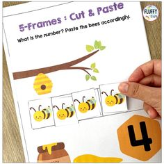 Have fun reviewing and teaching numbers 1 to 10 with this NO PREP Bugs Preschool Counting Activities! This resource is jam-packed with adorable bugs and cut & paste counting activities. There are 5-frames and 10-frames activities to help you differentiate your teaching easily. Learning Numbers Preschool, Preschool Centers, Teaching Numbers, Subtraction Activities, Fun Math Activities, Math Games, Early Math, Early Learning, Math Concepts