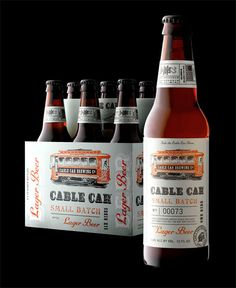 """""""Take the Cable Car Home"""" with this San Francisco brewery. Note the punch ticket on the neck."""