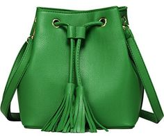 "New Trending Shopper Bags: Bucket Bag Small Leather Bucket Bags Crossbody Shoulder Drawstring Purse Handbags for Women Mothers Day Gift (Green). Bucket Bag Small Leather Bucket Bags Crossbody Shoulder Drawstring Purse Handbags for Women Mother's Day Gift (Green)   Special Offer: $18.39      199 Reviews Package Includes : 1 PCS x Small Bucket Bag Specifications : 1)Bucket Bag Size: 8.6""x7.20""x3.80"" ..."