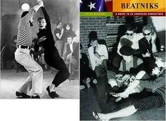 Phong cách beatnik những năm 50, 60 với áo len ao cổ đen, đội mũ beret và mắt kính đen. Audrey Hepburn trong 1 bộ phim lấy cảm hứng từ Beat generation. Họ khác hẳn những cô gái váy thướt tha với style new look hay những ngừoi đàn ông trong những bộ complet phom cứng.