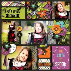 Layout using BOO TO YOU by Digital Scrapbook Ingredients  that is now on sale as a Bundle or in separate packs@ Sweet Shoppe Designs . Also used one of her Weekly Round Up Vol. 5 templates