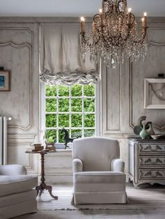 Gorgeous french room in neutral tones and beautiful details