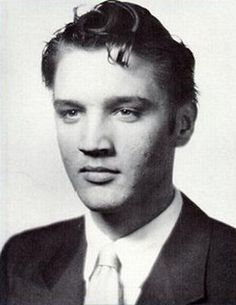 Elvis Presley | Graduation picture from Humes High School Memphis June 1953 age 18