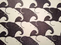 Geometry Students and Annual Tessellation Projects Escher Kunst, Escher Art, Mc Escher, Escher Tessellations, Tessellation Patterns, Tesselations, 8th Grade Art, Math Art, Art Lessons Elementary