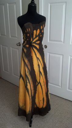 Monarch Butterfly Dress  (hand painted muslin, made by Kim Holl for prom 2012)
